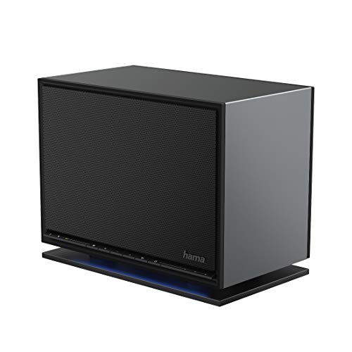 Hama Internetradio Streaming-Radio Digitalradio IR360MBT (Spotify, WLAN/LAN, Fernbedienung, Bluetooth, Multiroom, App-Steuerung) schwarz