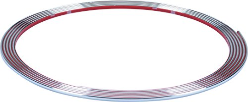 hr-imotion selbstklebende Chrom-Zierleiste - 365cm x 3,5mm [3M Material | Zuschneidbar | Witterungsbeständig | Hochflexibel] - 12010001