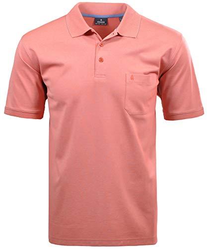 Ragman Herren Kurzarm Softknit Poloshirt 3XL Rot Orange