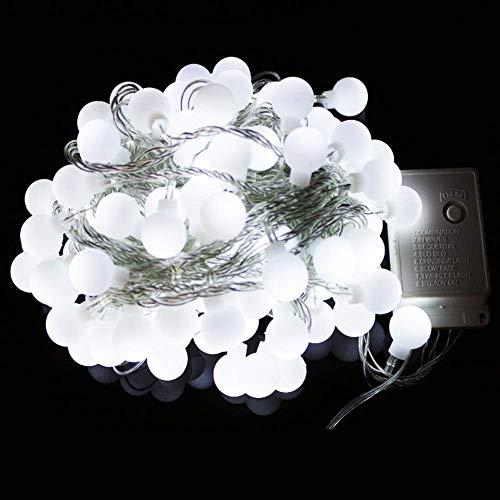 CFLFDC lichtketting, waterdicht, koperen lamp, decoratieve lamp, snoer, 10 m, 100 licht, geel – met accu-behuizing