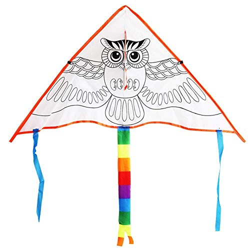 YF-SURINA Outdoor Kite Kite, Kids Kite Fun Kites for Kids Easy to Fly with Outdoor Sports 1 Set Diy Easy to Carry,Couleur aléatoire