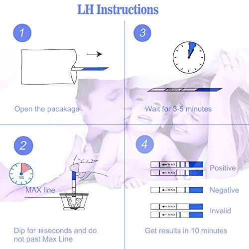 50 LH Ovulation Test Strips and 20 HCG Pregnancy Test Strips Kit Ovulation Predictor Kit for Women