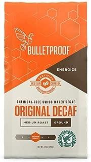 Bulletproof Coffee The Original Ground Decaf, Premium Gourmet Medium Roast Organic Beans, Rainforest Alliance Certified, Clean, Upgraded Clean coffee (12 Ounces)