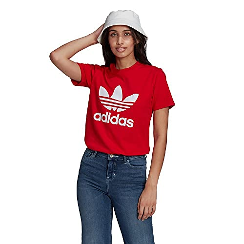 adidas GN2902 Trefoil Tee T-Shirt Donna Scarlet 40
