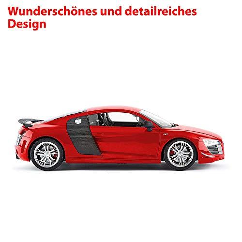 Audi RC ferngesteuertes Lizenz-Fahrzeug im Original R8 GT Design mit 2.4GHz und Front-Licht, Modell-Maßstab 1:14, Ready-to-Drive, Auto inkl. Fernsteuerung