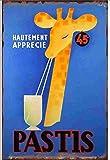 Pastis Vintage Cartel de hojalata, Personalizado, Cuadro Decorativo, Pintura de Estaño, Colorfast, Placa de metal, Regalo, Decoración de pared, Arte, Hecho Antiguo