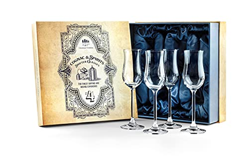 Cognac Brandy, Tequila and Dessert Wine Snifter Glasses | Set of 4...