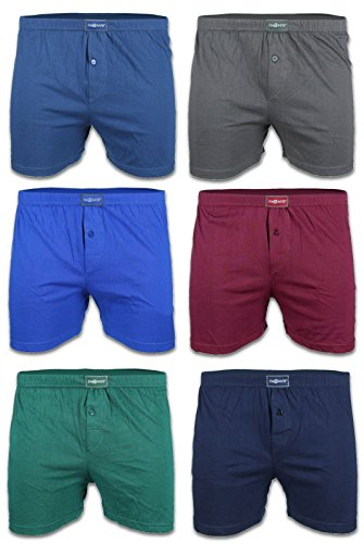 BestSale247 6er Pack Klassische Herren Boxershorts mit Eingriff Unterwäsche Retroshorts Übergröße Unterhosen 100% Baumwolle Gr.5(M) bis 13(7XL) (7XL, Merhfarbig)