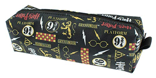 Harry Potter Themed Allover Pattern School Pencil Case Mini Make-Up Bag