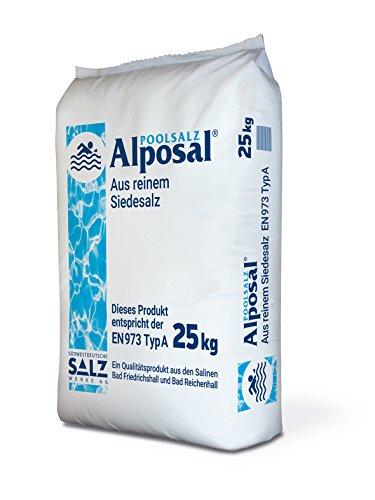 ALPOSAL zwembadzout van puur kookzout (geschikt voor chloorinator) in een zak van 25 kg