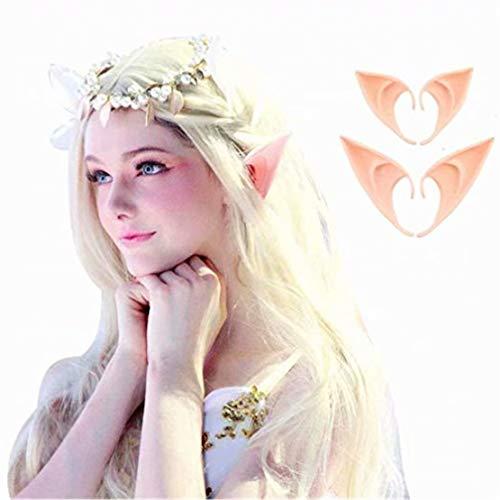 SUNMUCH Latex-Elfen-Ohr-Kostüm, weich, spitz, Kobold-Ohren, Cosplay, Halloween, Party-Requisiten, Elfen, Vampir, Feen-Ohren