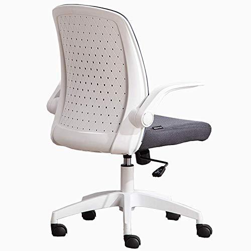 WSDSX Schlafzimmer Home Office Schreibtischstuhl mit Torsionskontrolle Bequemer gepolsterter Mesh-Stuhl Atmungsaktiver, drehbarer Computerstuhl mit Mesh-Rückenlehne und hochklappbaren Armlehn