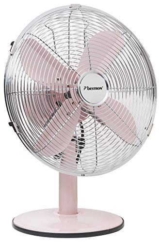 Bestron DFT35R Summer Breeze tafelventilator, 35 W, 240 V, roze