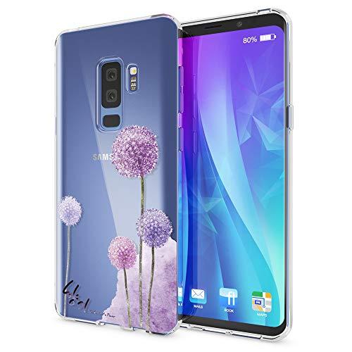 NALIA Handyhülle kompatibel mit Samsung Galaxy S9 Plus, Slim Silikon Motiv Hülle Crystal Schutzhülle Dünn Durchsichtig, Etui Handy-Tasche Back-Cover Transparent Bumper, Designs:Dandelion Pink