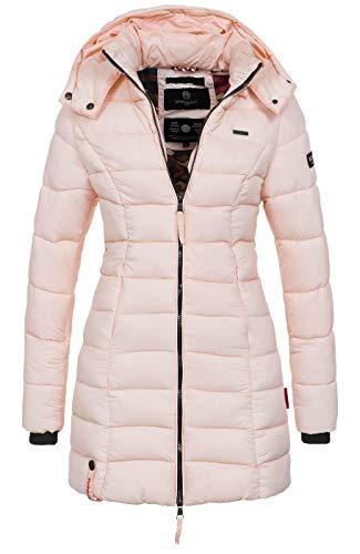 Marikoo Herbst Winter Übergangs Steppmantel Jacke Mantel gesteppt B603 [B603-Abend-Rosa-Gr.S]