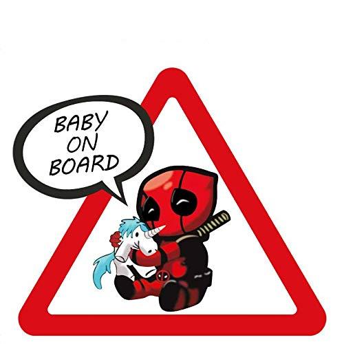 Personalidad Creativa Aliauto Superhéroes Bebé a Bordo del Cofre (Color : 1)