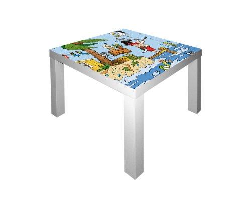 Piraten Möbelsticker/Aufkleber für den Tisch LACK von IKEA - IM173 - Möbel Nicht Inklusive | STIKKIPIX