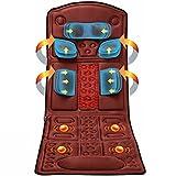 FEFCK Colchón De Masaje Térmico Eléctrico De Vibración con Bolsas De Aire para Las Piernas De La Cintura Trasera del Cuello, Mataje Mataje Shiatsu para El Hogar/Coche/Oficina
