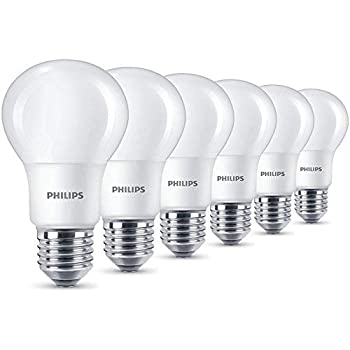 Philips LED LED Leuchtmittel, Kaltweiß, Synthetisch, E27, 7.5 W, frosted, 6
