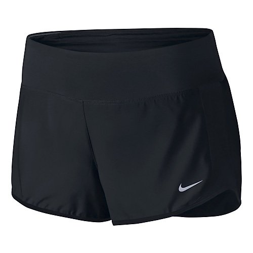 Nike Women's Crew Shorts, Black/Reflective Silver, XS