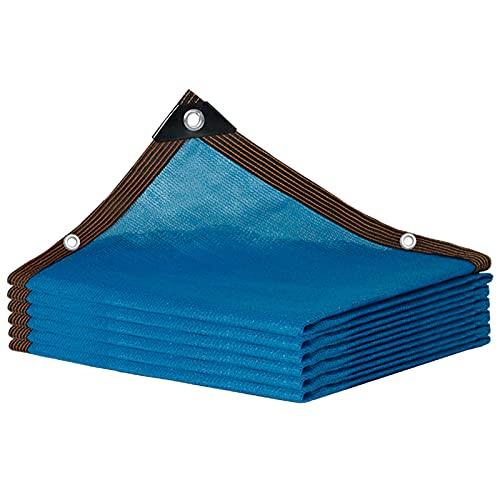 Telas para Toldos Sombreadora Malla Azul Grande, Paño De Red para Sombra Al Aire Libre con 85% De Tasa De Sombreado, Cubierta De Patio De Invernadero De Jardín, Toldo Anti-Ultravioleta Automático