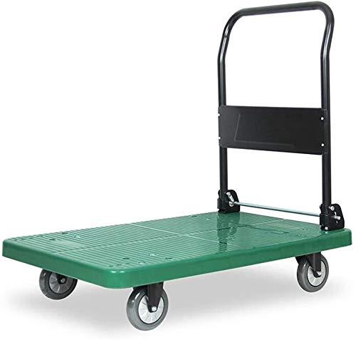 Mopoq Camion di Mano Camion rimorchiatore Trolley Camion Van Piccolo rimorchio Pull Rod plastica Corpo Piccolo Carrello Bagagli Carrello Green Business capacità di carico 200~400kg buona
