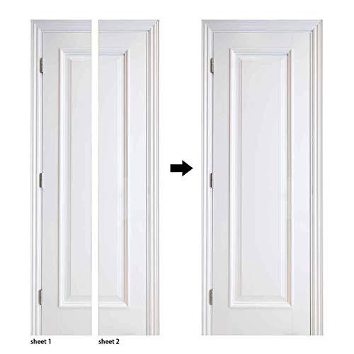 Etiqueta engomada de la Puerta de la Serie de Grano de Madera 3D Papel Tapiz Autoadhesivo para el Dormitorio Diseño del hogar Etiqueta de la decoración de la Puerta Etiqueta Mural A4 77x200cm