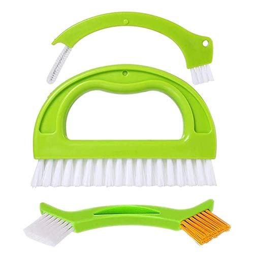 ZSWQ 3 en 1 Cepillos para Limpieza,de Azulejos Limpiador de Lechada Set, Cepillo para Juntas de Cocina y hogar, baño y Cocina y Limpieza de Azulejos