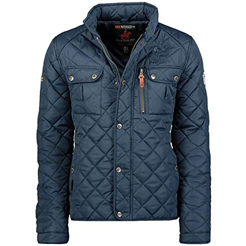 Geographical Norway Mens Quilted Jacket Mid Season Dathan Jacket Navy S