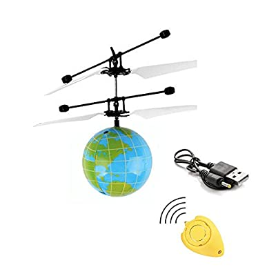 Gemini_mall® Flying Ball, Kids Toys Remote Control Helicopter Mini Drone Magic RC Flying Toys with Shinning LED Lights Fun Gadgets for Boys Girls Kids Teenagers Adults (6#)