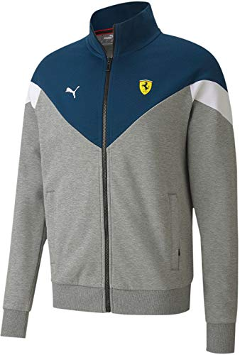 PUMA Scuderia Ferrari Race MCS Sweat Jacket Medium Gray Heather XL