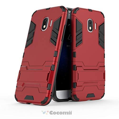 Cocomii Iron Man Armor Galaxy J2 Pro 2018/Grand Prime Pro Hülle, Schlank Dünn Matte Vertikaler und Horizontaler Ständer Schutz Hülle Bumper Cover Schutzhülle for Galaxy J2 Pro 2018/Grand Prime Pro (Red)