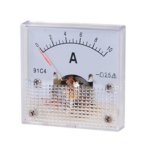 sourcing map 1 Pcs DC Analog Strom Panelmeter 91C4-A Panelmeter DC 30mA Amperemeter für Schaltungsprüfung DE de