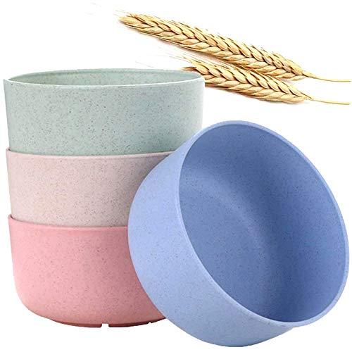 4 Pezzi Ciotole per Cereali Infrangibili Servizio di Ciotola in Ciotole di Cereali Leggera Ciotola di Riso, Ciotola di Zuppa, Ciotola da Dessert, Ciotola da Colazione, per Pasta, Zuppa, Cereali