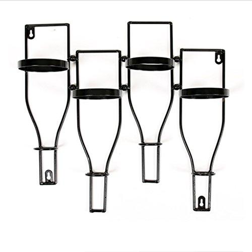 NYDZDM - Estante de vino para tubo creativo industrial, estante de pared personalizado, estante de exhibición de ocio, estante de vino, decoración decorativa retro de la pared