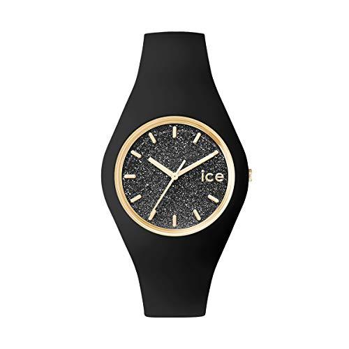 Ice-Watch Ice Glitter Black, Orologio Nero da Donna con Cinturino in Silicone, 001356, Medium