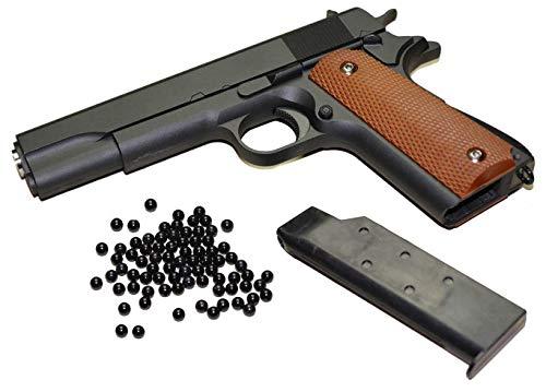 KOSxBO Set Airsoft Pistole - G.13 Vollmetall Metallschlitten, schwarz Cal. 6 mm BB + Softair Markierer Munition