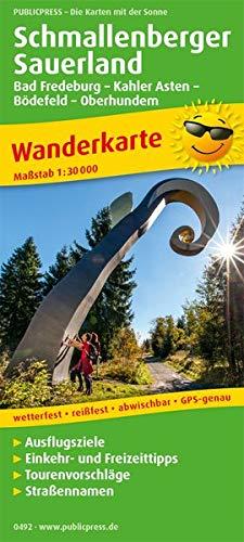 Schmallenberger Sauerland, Bad Fredeburg, - Kahler Asten - Bödefeld - Oberhundem 1:30 000: Wanderkarte mit Nebenkarte Oberhundem - Wingeshausen, ... reissfest, abwischbar, GPS-genau. 1:30000