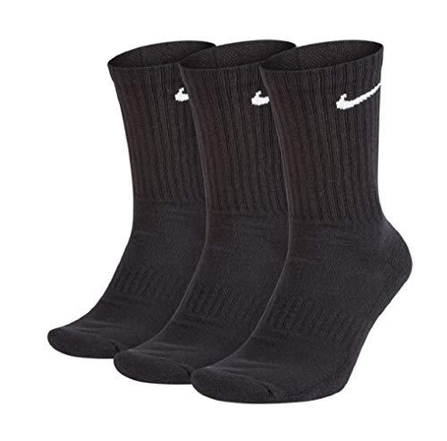 Nike Everyday Cushion Crew - Calcetines (3 unidades), Para todo el año., Hombre, color blanco/negro, tamaño M
