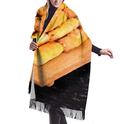 Bufanda de mantón Mujer Chales para, Bufanda de invierno unisex con sensación de cachemira clásica, deliciosas galletas caseras, nueces, dulces, largas, grandes, cálidas, bufandas, mantón, estola