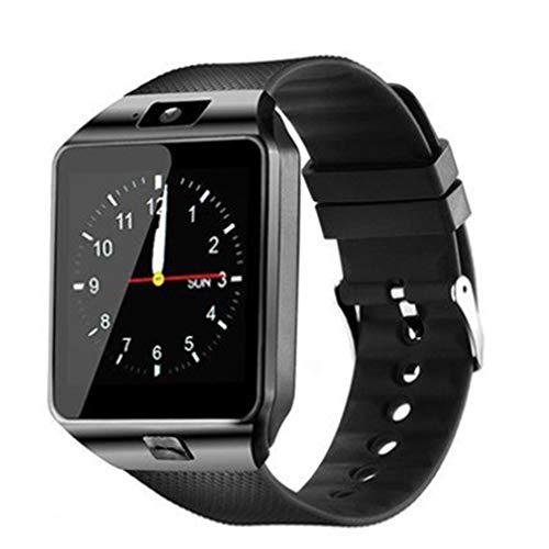 bansd Smart Watch Orologio per Telefono Android Fotocamera Impermeabile Smart Watch Call Bracciale Nero