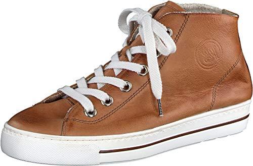 Paul Green Damen SUPER Soft Hightop-Sneaker, Damen Halbschuhe,weiblich,Lady,Ladies,Women's,Woman,schnürschuhe,mid,Cut,Mittelbraun (178),39 EU / 6 UK