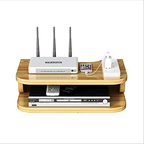Set Top Box Rack, Consola de TV con Estante Flotante, para Set-Top Box Router Consolas De Juegos, Adecuado para Sala De Estar,Etc.