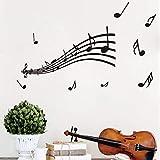YuanMinglu Personal Piano música Dormitorio Kindergarten vinilos Decorativos Notas 85x46cm