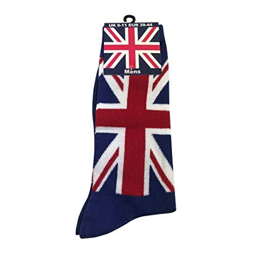 British Heritage Brands Socks Uwear - Calzini da uomo con bandiera inglese, colore: Blu navy