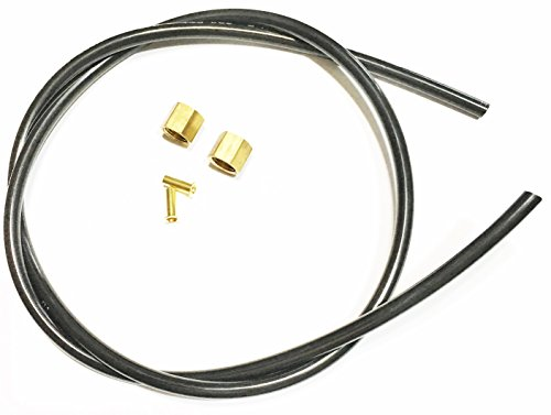 "Sellerocity Brand Replacement Kit Air Compressor Tube Unloader Hose 40"" Compatible With Emglo Jenny 610-1091 Dewalt A12463 Contains Nut & Ferrule With Insert"