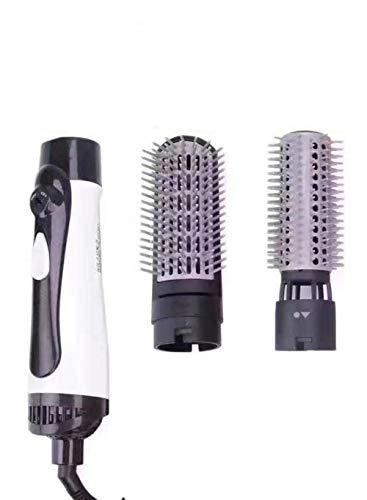 THWYJ Sèche-Cheveux Négatif Ion Curl Peigne À Cheveux Droit Électrique Peigne À Air Chaud Multifonctionnel, Noir Et Blanc 220V