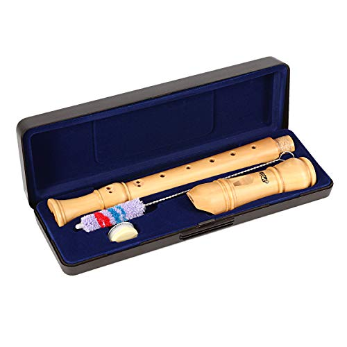 Eastar ERS-31BM Descant Recorder Wooden Recorder Baroque Style Soprano Recorder Set C Key 3 Piece Recorder Instrument Maple Wood