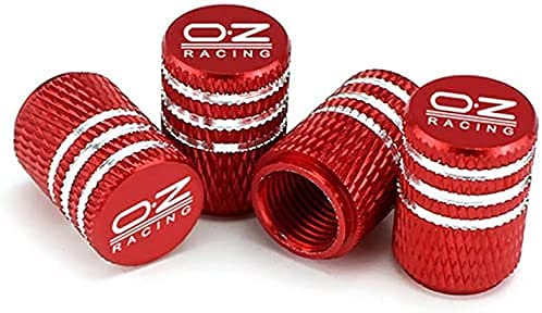 4 Piezas Coche Tapas de Válvula para Ki-A OZ Racing Optima K5, Cubiertas Impermeables de Prueba de Polvo Tapones de Válvula de Neumáticos