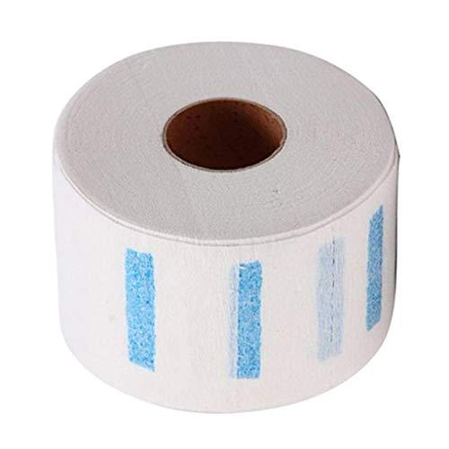 F Fityle 1 Rolle/100 Blatt Friseur Einweg Halskrause Papier - Friseurbedarf Nackenschutz Papier - Wasserdicht Langlebig - Weiß